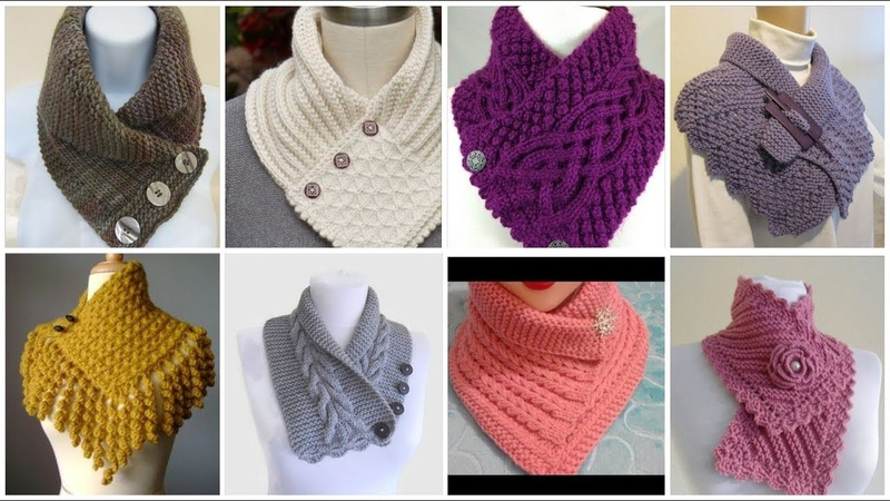 Trendy and stylish knitted caplet scraf neck warmer design for high fashion ladies winter fashion