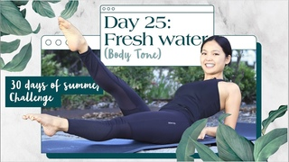 30-минутная тренировка всего тела. Day 25: Fresh Water | 30 Min Full Body Workout | 30 Days of Summer Pilates Challenge
