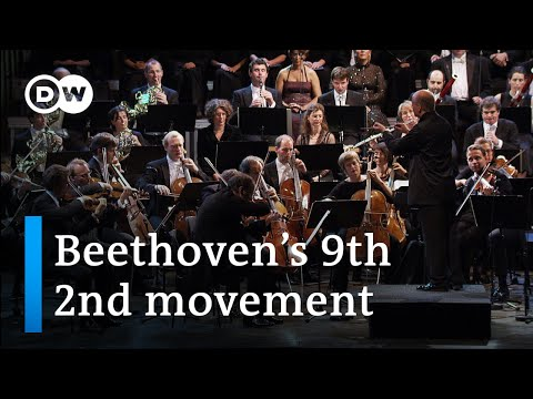 Beethoven's Symphony No 9 in D minor Op 125 2nd movement conducted by Paavo Järvi