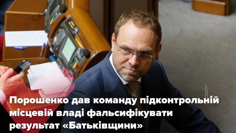 Порошенко дав команду підконтрольній місцевій владі фальсифікувати результат Батьківщини