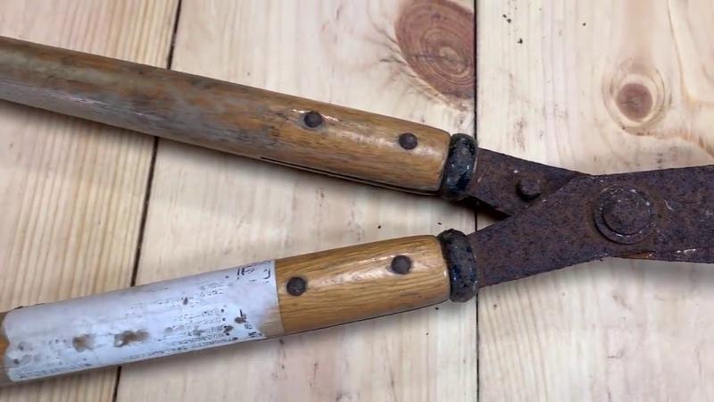 Knife Making Japanese Kiridashi From A Hedge Shear