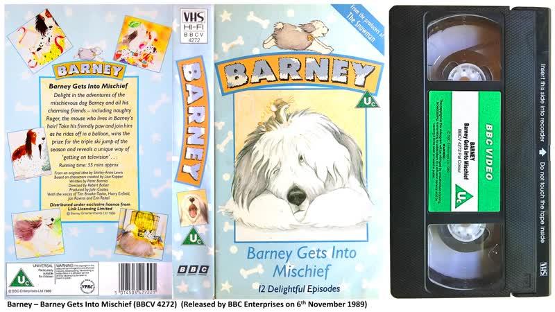 Barney Gets Into Mischief BBCV 4272 1989 UK VHS