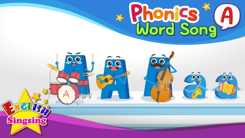 Phonics Word song A - English Songs - Educational video for Kids