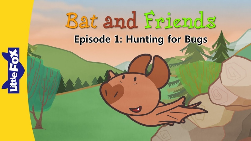 Bat and Friends 1 | Hunting for Bugs | Friendship | Little Fox | Animated Stories for Kids