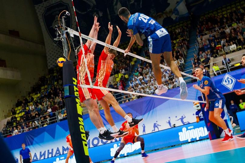 Московская волейбольная команда «Динамо» продолжает побеждать в Чемпионате страны