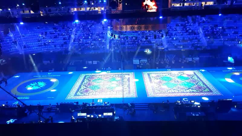 церемония открытия Чемпионата мира по греко-римской борьбе 15.09.2019года в Нур-Султане