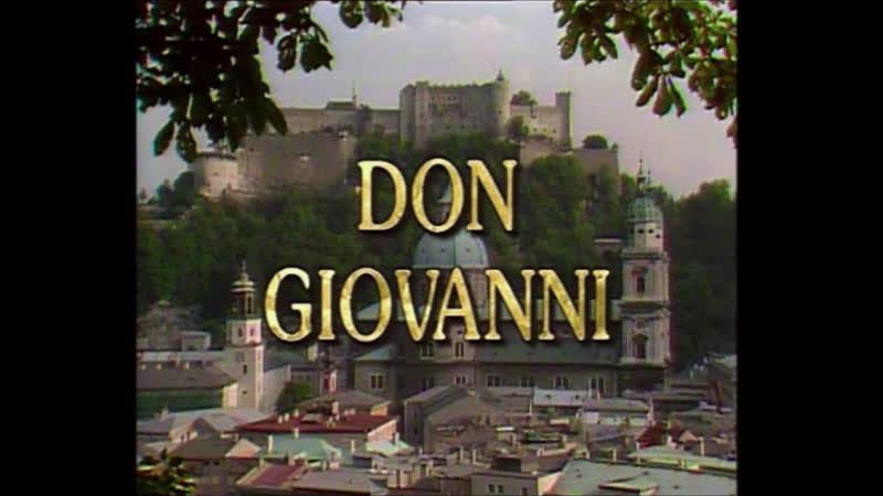 DON GIOVANNI Karajan Ramey Furlanetto Winbergh Tomowa Sintow Salzburg July 1987 HD
