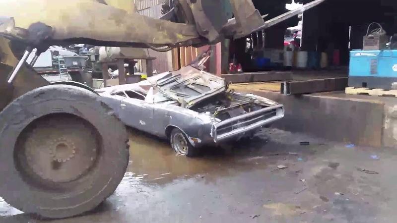 Daniel Gagliardi has his 1970 383 big block Dodge Charger 500 DESTROYED on purpose!