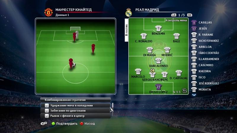 Комбинационная игра в Pro Evolution Soccer 2014
