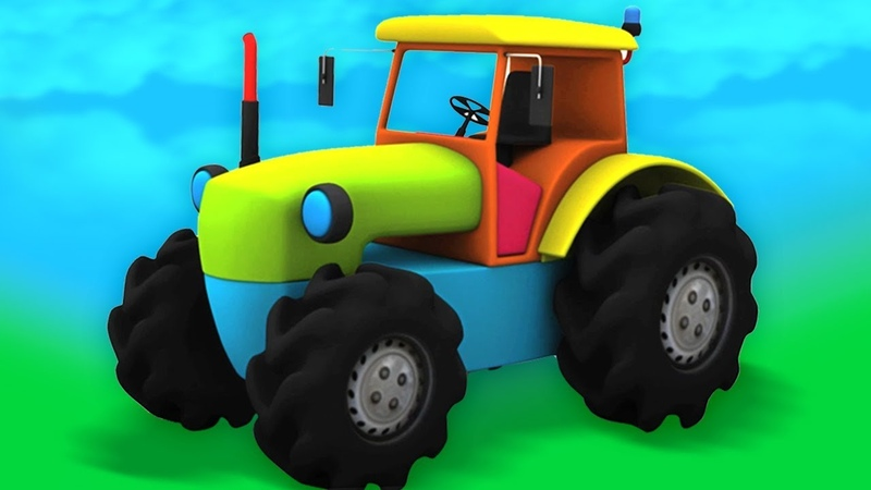Piirretty traktori Unboxing videot leluja Unboxing lapsille Tractor Unboxing Kids Toys