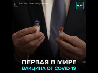Россия первой в мире зарегистрировала вакцину от Covid-19 — Москва 24