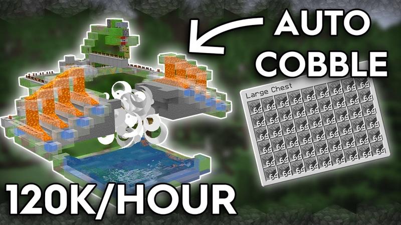 Minecraft Fully Automatic Cobblestone Farm 120 000 Cobble Per Hour 1 16 1 15