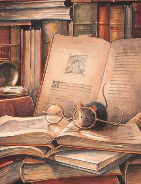 Книжная мышка Мышка всегда читающей была,Поэтому про неё шла молва,Что как только начнется ее год,Станет самым читающим