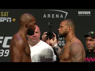 Взвешивание UFC 239: Джонс vs Сантос