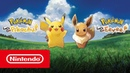 Pokémon: Let's Go, Pikachu! и Pokémon: Let's Go, Eevee! — релизный трейлер (Nintendo Switch)