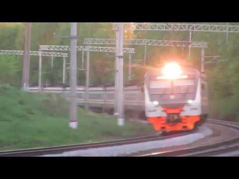 Электропоезд ЭД4М-0488 ЦППК перегон Латышская-Нара 7.05.2018