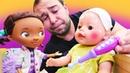 Bebek bakma oyunu Baby Born Mert'in ateşi çıkıyor Kız ve erkek videosu