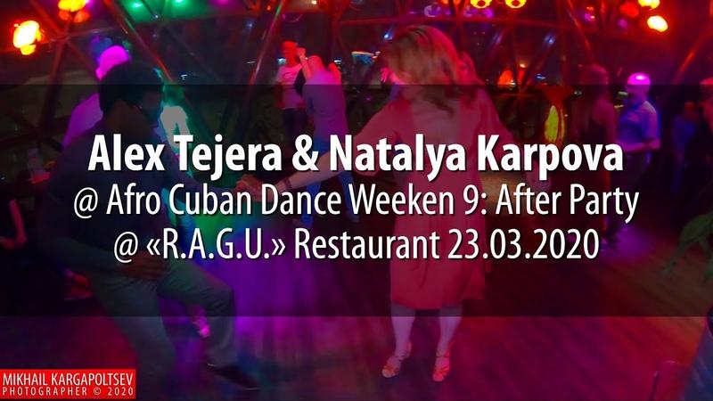 Alex Tejera Natalya Karpova social dancing @ Afro Cuban Dance Weekend 9 23 03 2020