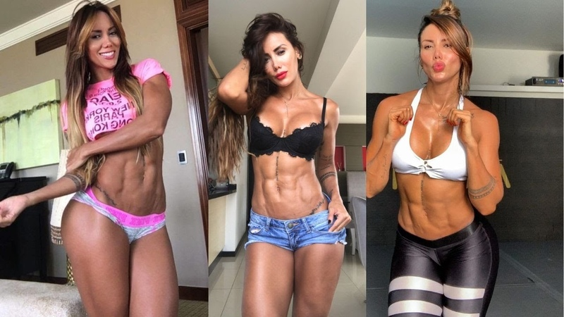 Best Female Abs Workout - FBB Presents JUST Female abs RIPPED SHREDDED Girls abs - (Sonia Isaza) P-6