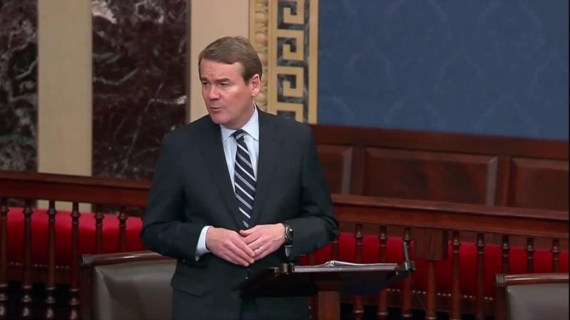 Senator Michael Bennet Speaks on Senate Floor in Honor of Former Senator Kay Hagan