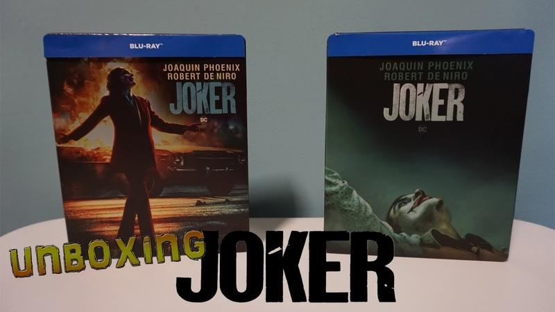 JOKER BLU RAY STEELBOOK EDICIONES IMAX y TEASER UNBOXING OFF TOPIC