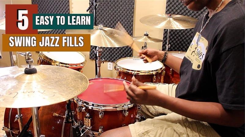 5 EASY TO LEARN JAZZ SWING FILLS