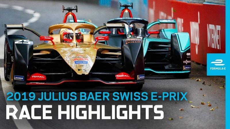 2019 Julius Baer Swiss E-Prix | Race Highlights | A Tense Fight To The Finish