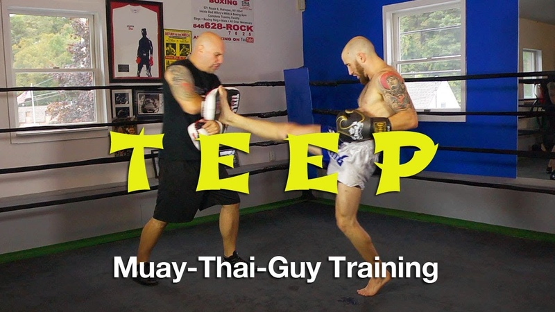 How To Throw A Teep Push Kick Tutorial Basic Muay Thai Techniques