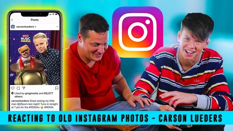 REACTING TO OLD INSTAGRAM PHOTOS- CARSON LUEDERS BILLY LEBLANC
