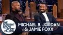 Michael B Jordan and Jamie Foxx Recall Filming Just Mercy's Emotional Courtroom Scene