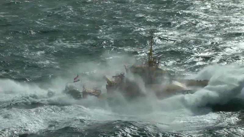 Schepen op de Noordzee voor de kust van Hoek van Holland