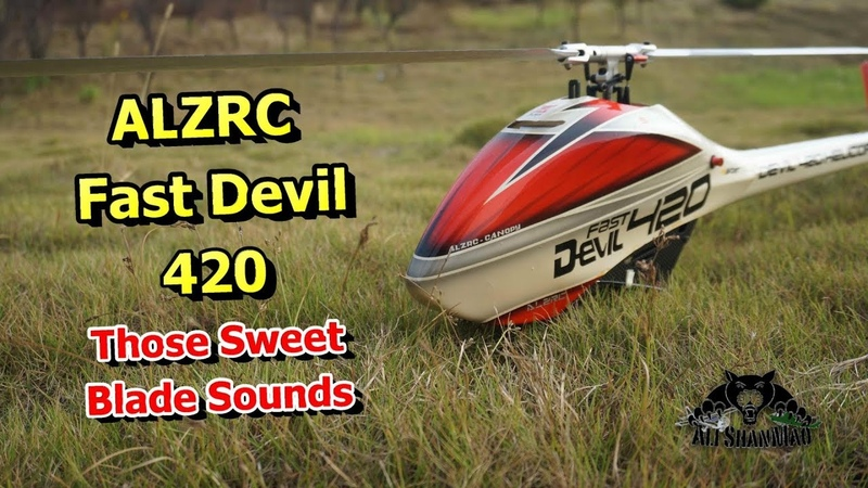 ALZRC Fast Devil 420 3D RC Helicopter Sweet blade Sounds
