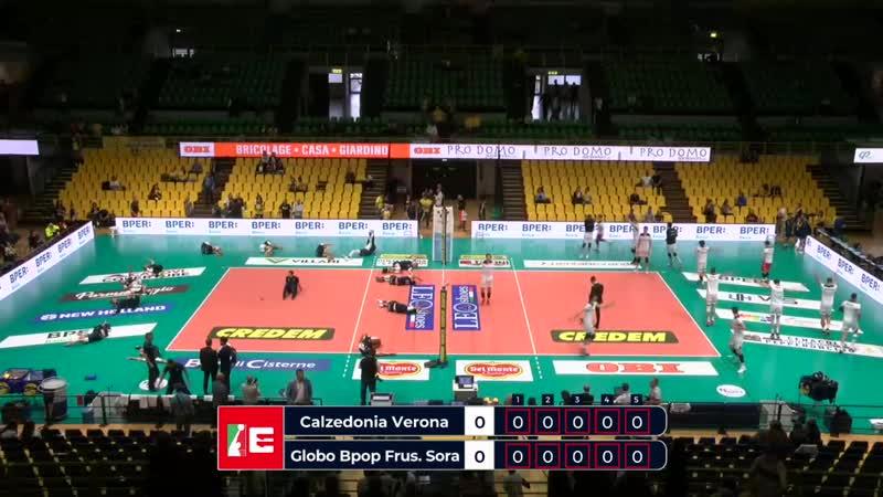 Верона - Фрузионе Сора. Волейбол. Италия. Суперлига. Мужчины. 1-й тур. 20-10-19
