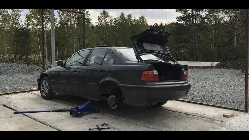 УСТАНОВКА КОРОТКОХОДНОЙ КУЛИСЫ BMW Е36. ПЕРЕНОС АКБ BMW