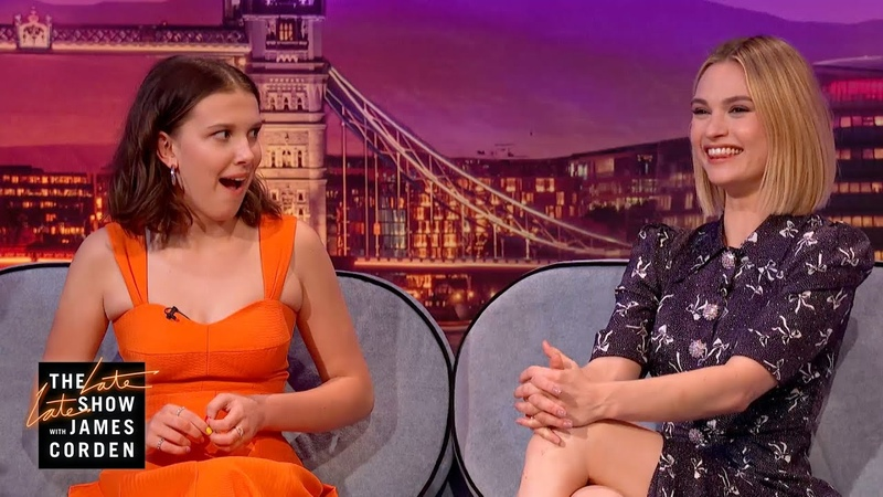 Lily James Millie Bobby Brown Are Very Superstitious - LateLateLondon