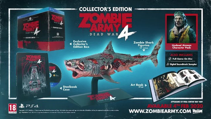 В зомби превратились даже танки Zombie Army 4 получила дату релиза, новый мясной трейлер и коллекционное издание с акулой