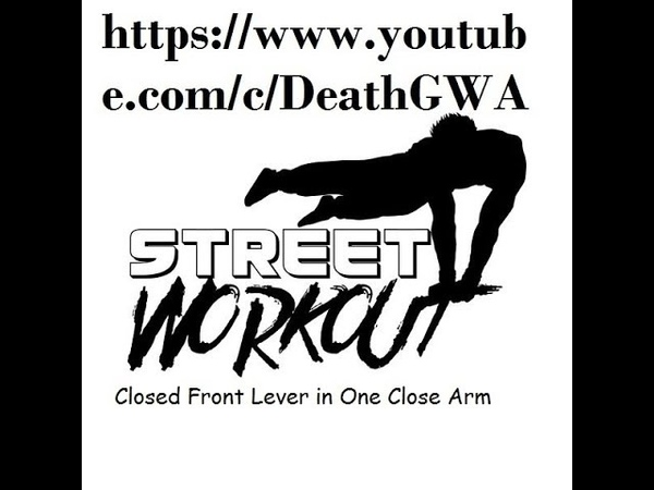 Closed Front Lever in One Close Arm (Street Workout, передний вис)