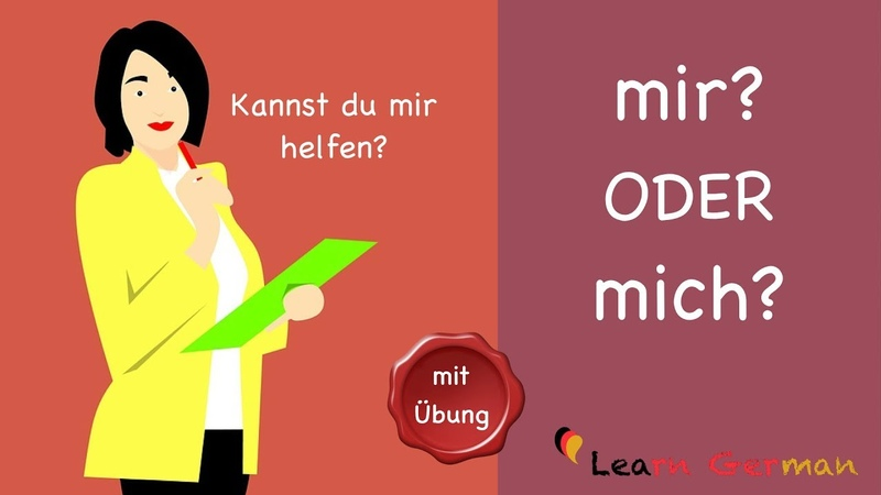 Learn German | Common Mistakes in German | mir oder mich | A1 | A2