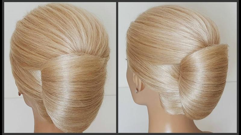 Легкая идеальная прическа.Как убрать торчащие волосы!Easy perfect hairstyle.How to gently make hair