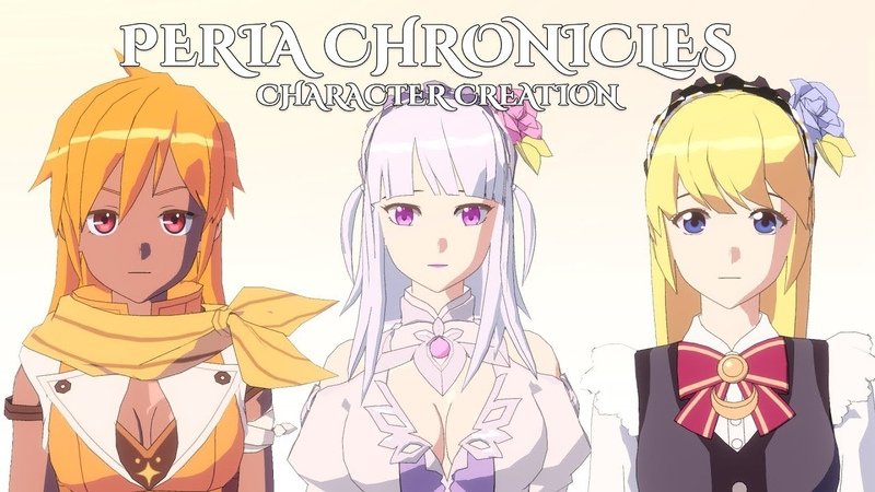 Peria Chronicles Female Character Creation (Anime MMO 2019)