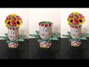 Flower Vase Made With Waste Plastic Bottle and Jute Rope DIY New Flower Vase Showpiece with Jute