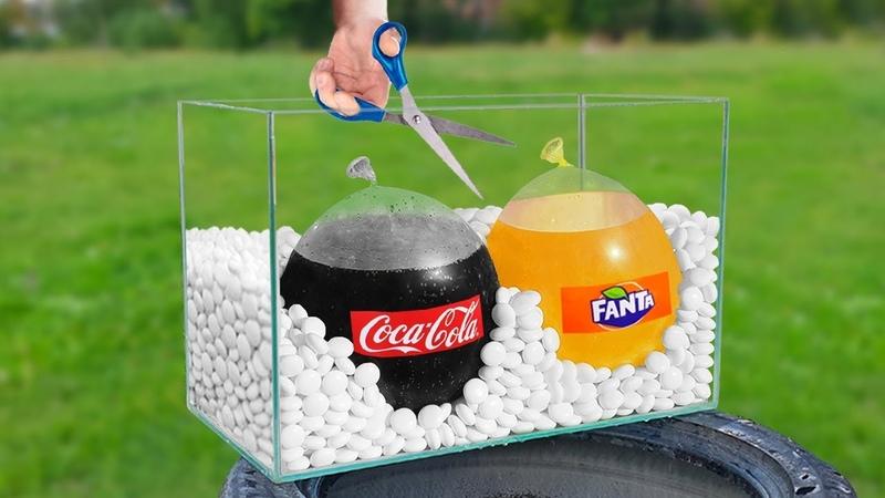 Experiment Coca Cola Mentos