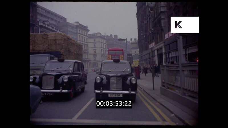 1960s, 1970s Knightsbridge, Harrods, London Driving POVs, HD