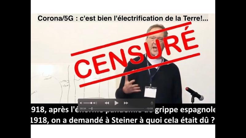 Vidéo Corona 5G censurée c'est donc que c'est vrai