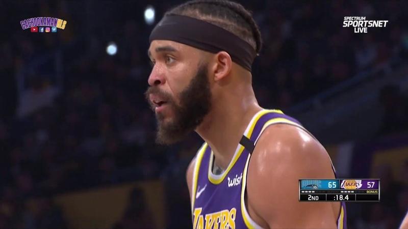 JaVale McGee Blocks Terrence Ross Dunk Magic vs Lakers January 15 2020