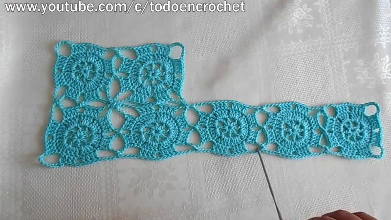 Como hacer Granny square en crochet - cuadros, ideal para vestido, chaleco, mantel, crochet viral