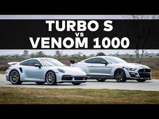 2021 911 Turbo S vs 1000 HP GT500 // STREET RACE COMPARISON!