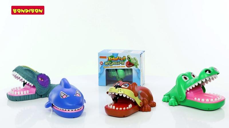 Настольные игры Зубастые: Акула, Собака, Динозавр, Крокодил
