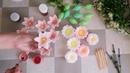 Букет из мыльных цветов Лилии, ромашки и морозник в пластиковом вазоне