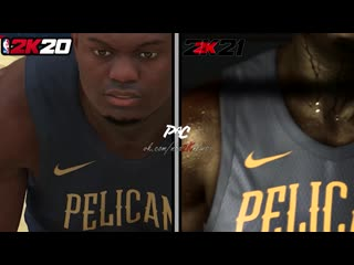 Большое сравнение NBA 2K20 с кадрами из тизера NBA 2K21